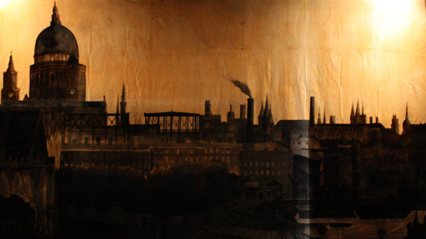 Eros And Psyche London Skyline Victorian Mary Poppins Christmas Carol Rooftops Sweeney Todd Set Design Stage
