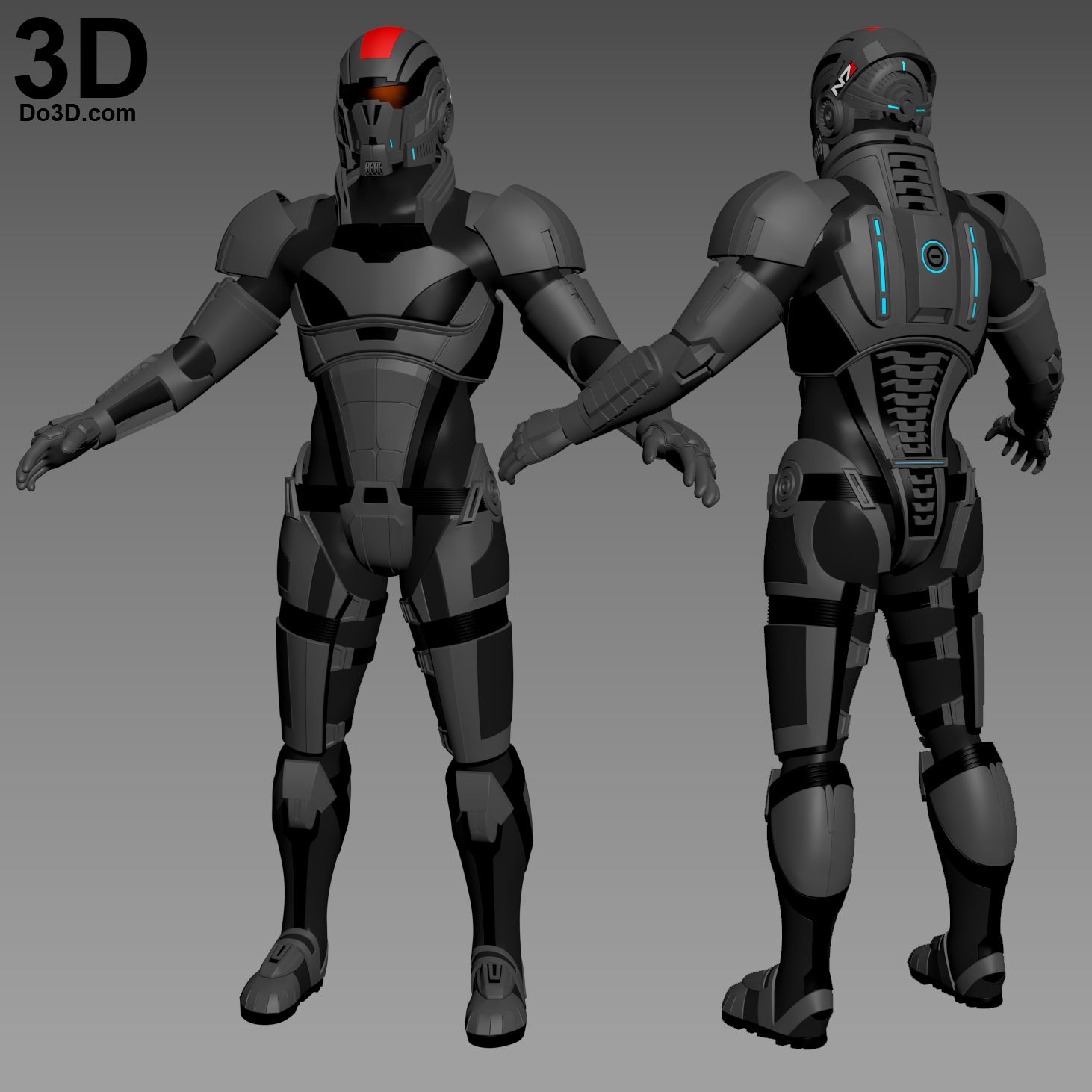 3d Printable Model N7 Commander Shepard Armor Mass Effect