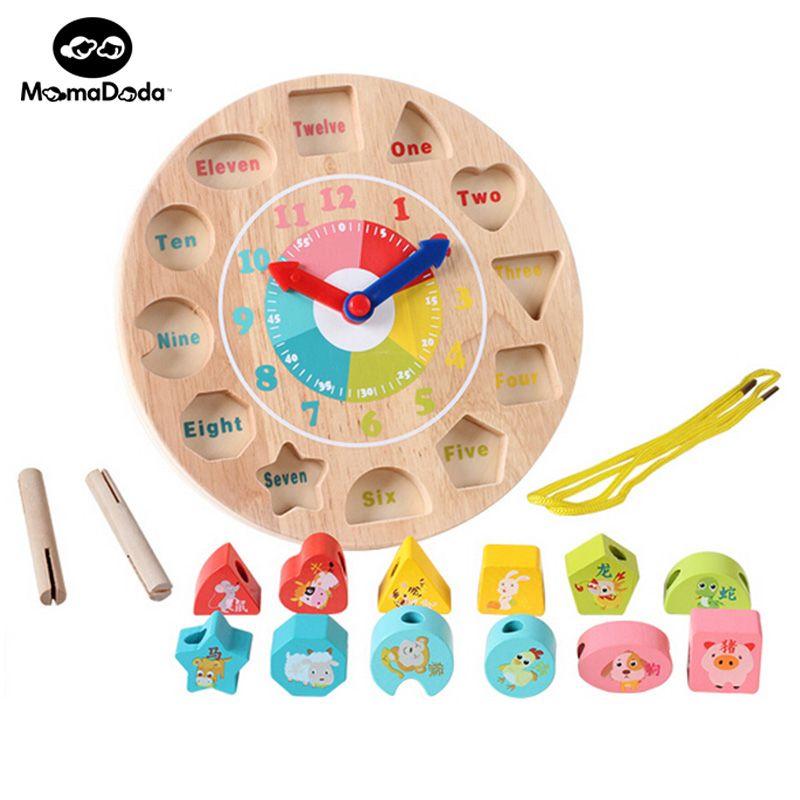 طفل لعبة الرياضيات التعليمية مونتيسوري خشبية حول حبات من عدد ساعة الطفل الأطفال التنموي التعلم ك Math Toys Educational Toys For Kids Childrens Educational Toys