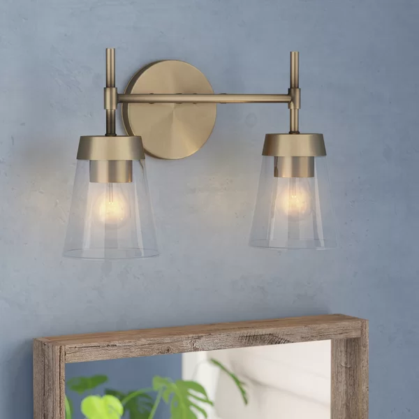 Russell 2 Light Dimmable Vanity Light Vanity Lighting Modern Rustic Interiors Modern Rustic