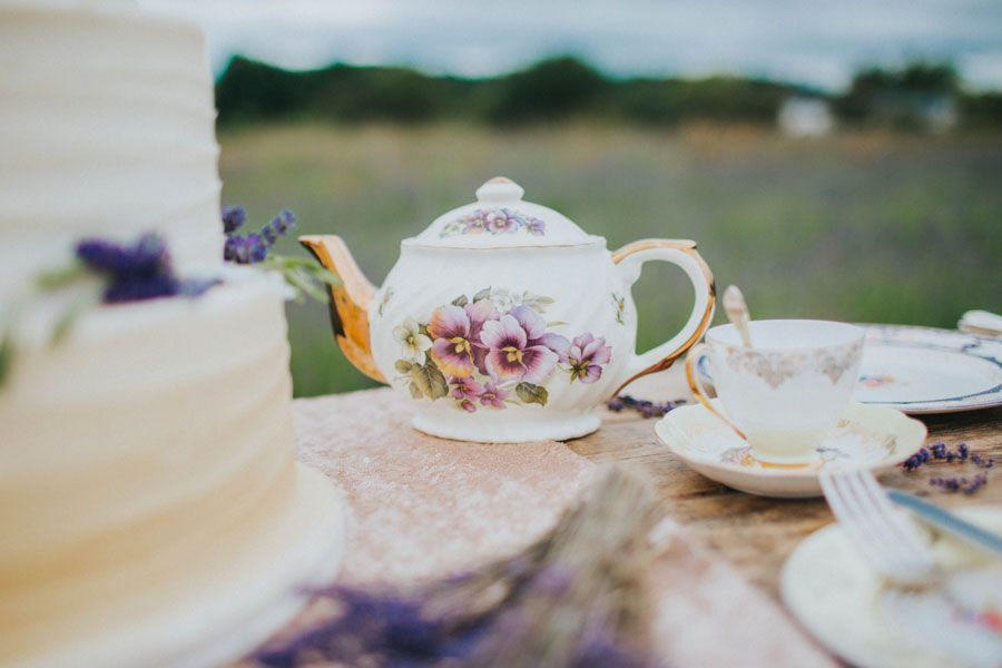 vibrant  pretty bridal editorial in lavender fields