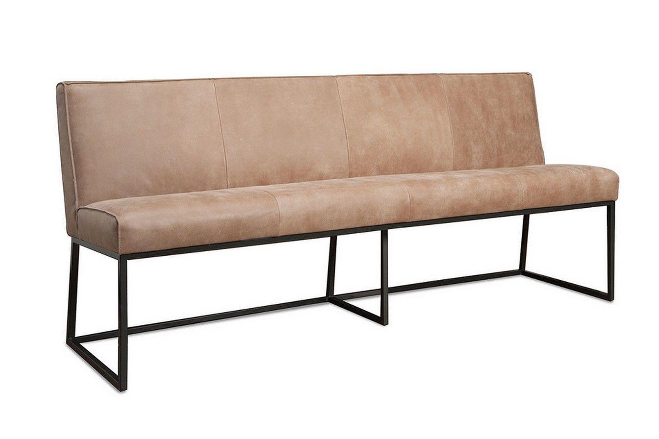 Sitzbank 4 Sitzer Leder natur  Sitzbnke