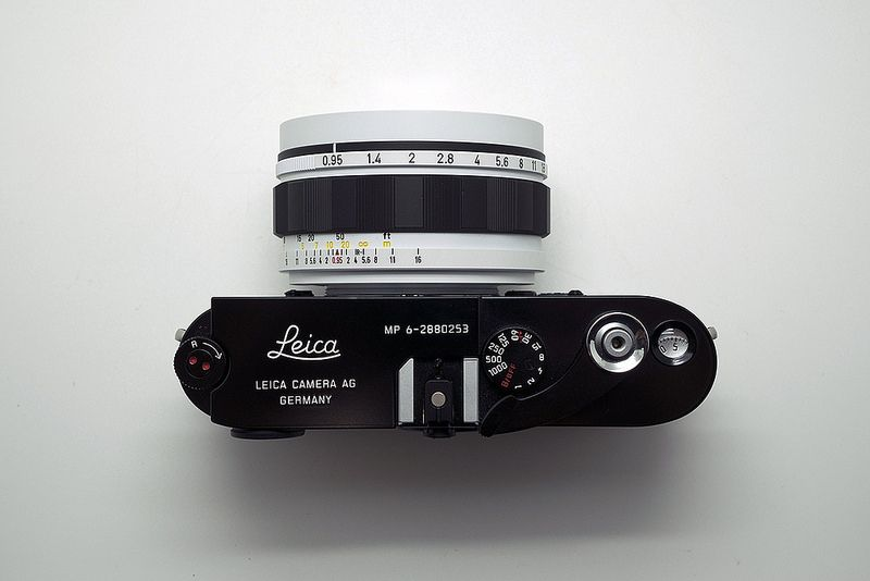 Canon 50mm 0.95 'Storm Trooper' edition Custom w/ Leica MP-6 | by Japancamerahunter