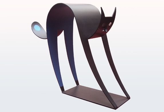 Big cat sculpture, only 99 models. Limitated serie.