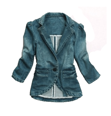 Street Style Shawl Neck 3/4 Sleeves Polished White Fitted Denim Jacket For Women  http://www.sammydress.com/product407930.html