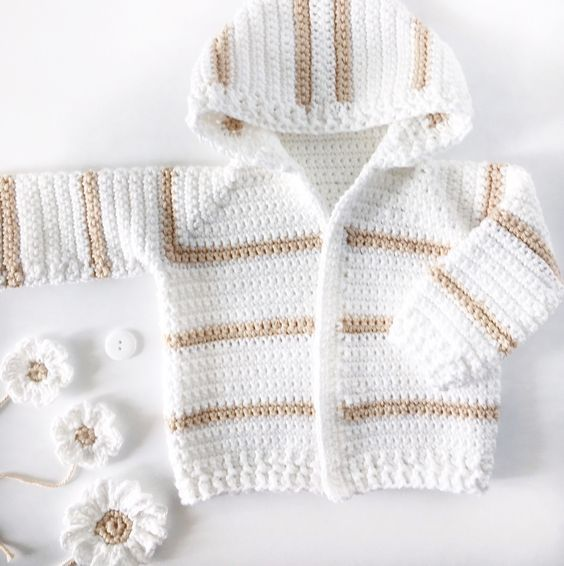 Simple single crochet baby sweater pattern for experienced cardigan ...