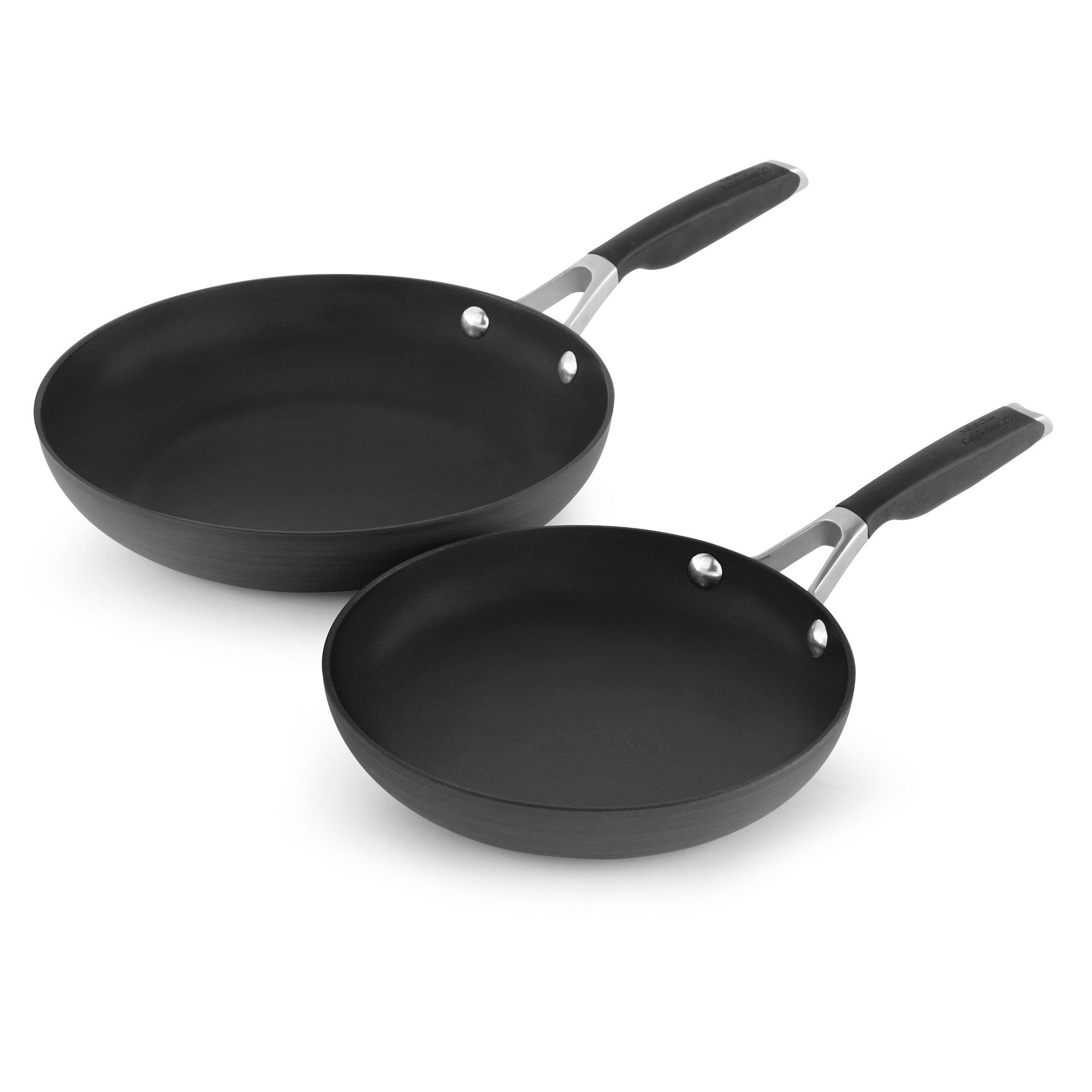 Calphalon 8 And 10 Hard Anodized Non Stick Frying Pan Set Fry Pan Set Calphalon Calphalon Pans