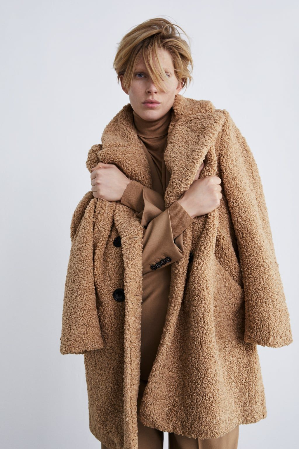 903b1f1e Shearling textured coat | STYLE-SWOONS | Shearling coat, Faux ...