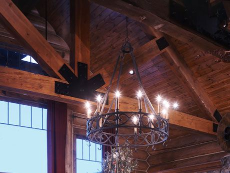 Luxury log cabin chandeliers pictures fantastic diy chandelier log home chandelier mark pinterest logs chandeliers and mozeypictures Gallery