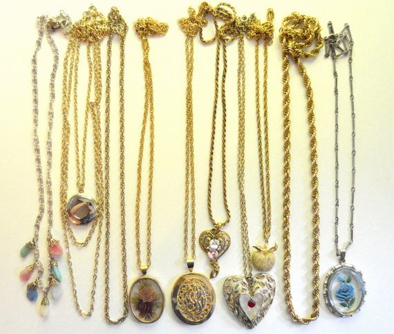 Vintage Necklace Group Costume Ten Pieces by SongSparrowTreasures, $20.00