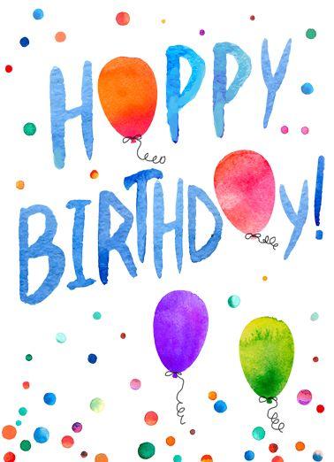 Birthday Balloons Funny Birthday Card Bright Birthday Balloons Colors Colorful Heartfelt W Free Birthday Greetings Happy Birthday Text Happy Birthday Boy