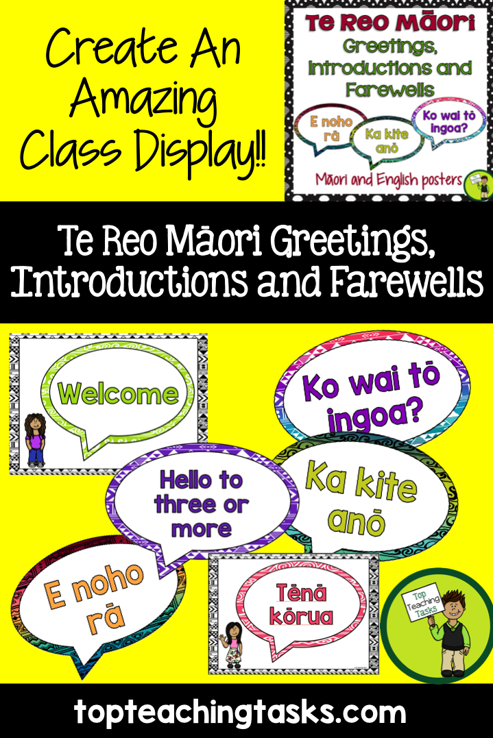 Te reo mori greetings introductions and farewells classroom brighten up your classroom while teaching te reo with these te reo mori greetings introductions and farewells posters these posters come in both english m4hsunfo