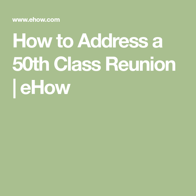 Fun Questions to Ask at High School Reunions | Fun ...