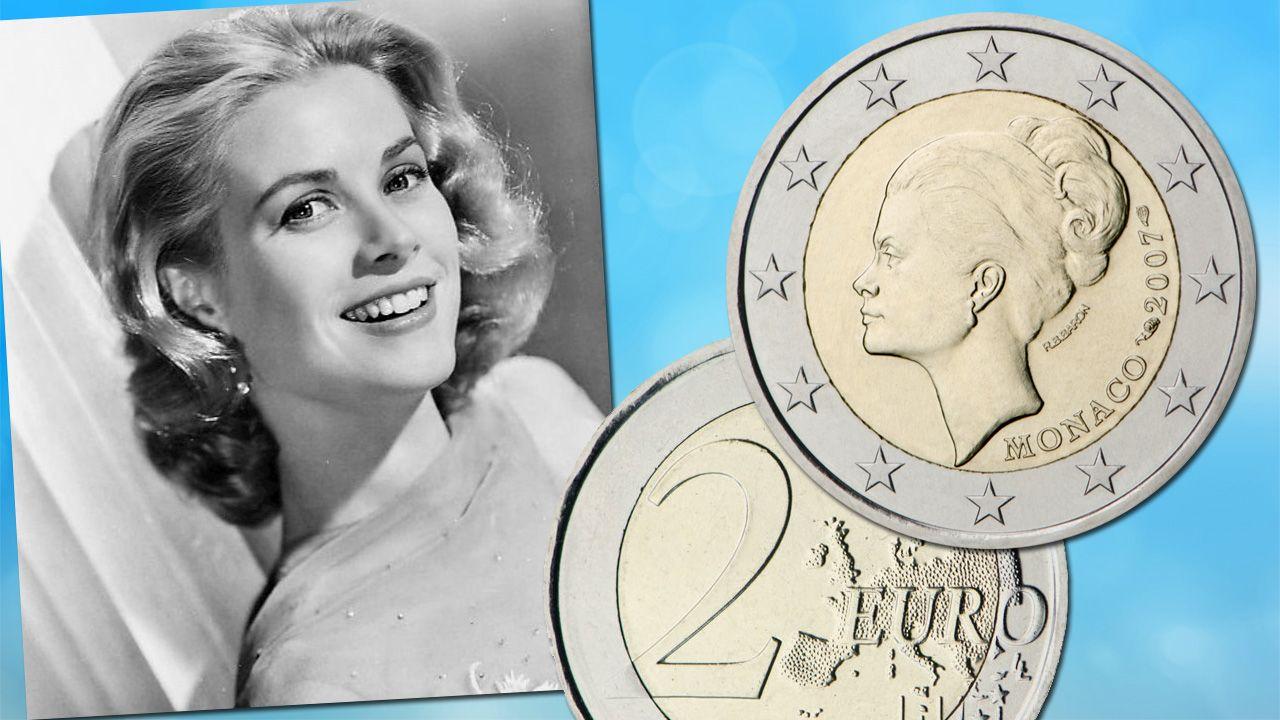 La Piece Commemorative De 2 La Plus Rare Est La Piece 2 Monaco Grace Kelly Frappee En 2007 Pour Comm Piece De Monnaie Ancienne 25eme Anniversaire Grace Kelly