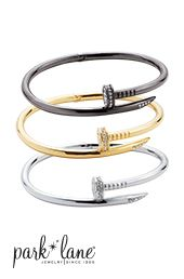 Cartier Inspired Bracelet by Park Lane Jewelry  The Cartier piece goes for $10,000...Park Lane's Crest Bracelet...only $111  #parklanejulie #armcandy #armparty    www.parklanejewelry.com/rep/julietullis    Buy 2, Get Up to 4 HALF OFF!