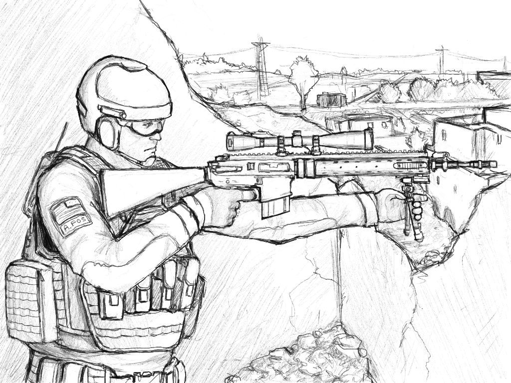 Us Sniper Coler Yahoo Image Search Results Drawing Coloring