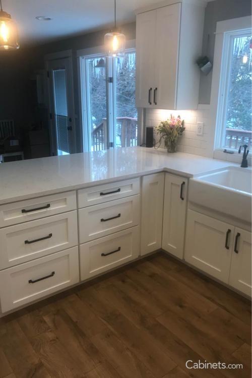 Shaker II Maple Bright White | Discount cabinets, Kitchen ...