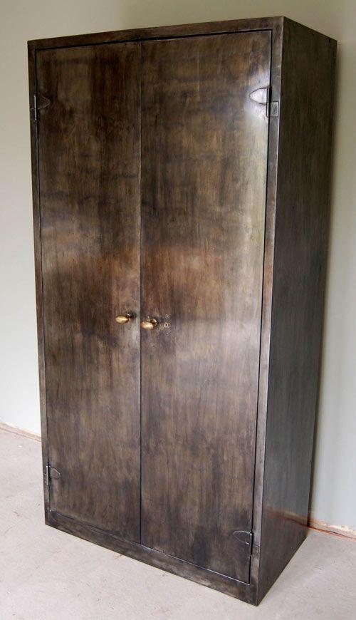 Burnished Metal Double Door Cabinetwardrobe Cabinet Doors