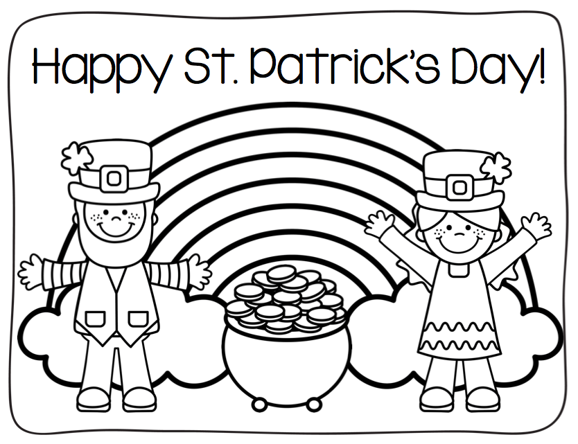 St. Patrick\'s Day Coloring Page | St. Patrick\'s Day - Work ...