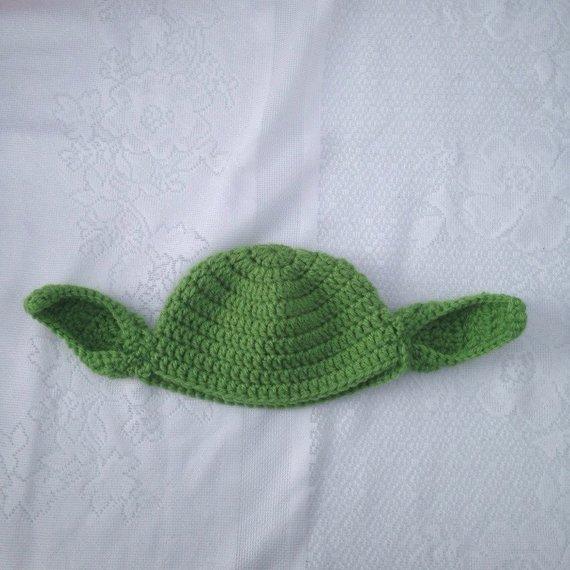 737d1efa22128 Yoda Hat - Crochet Star Wars Yoda Costume Hat - Kids Star Wars Costume -  Comic-Con Costume - Baby Co