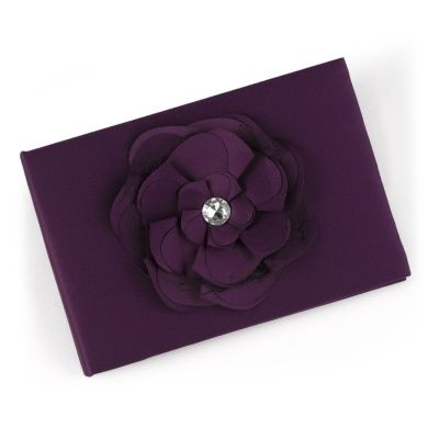 Floral Glam Guest Book - Eggplant at Invitations By Dawn
