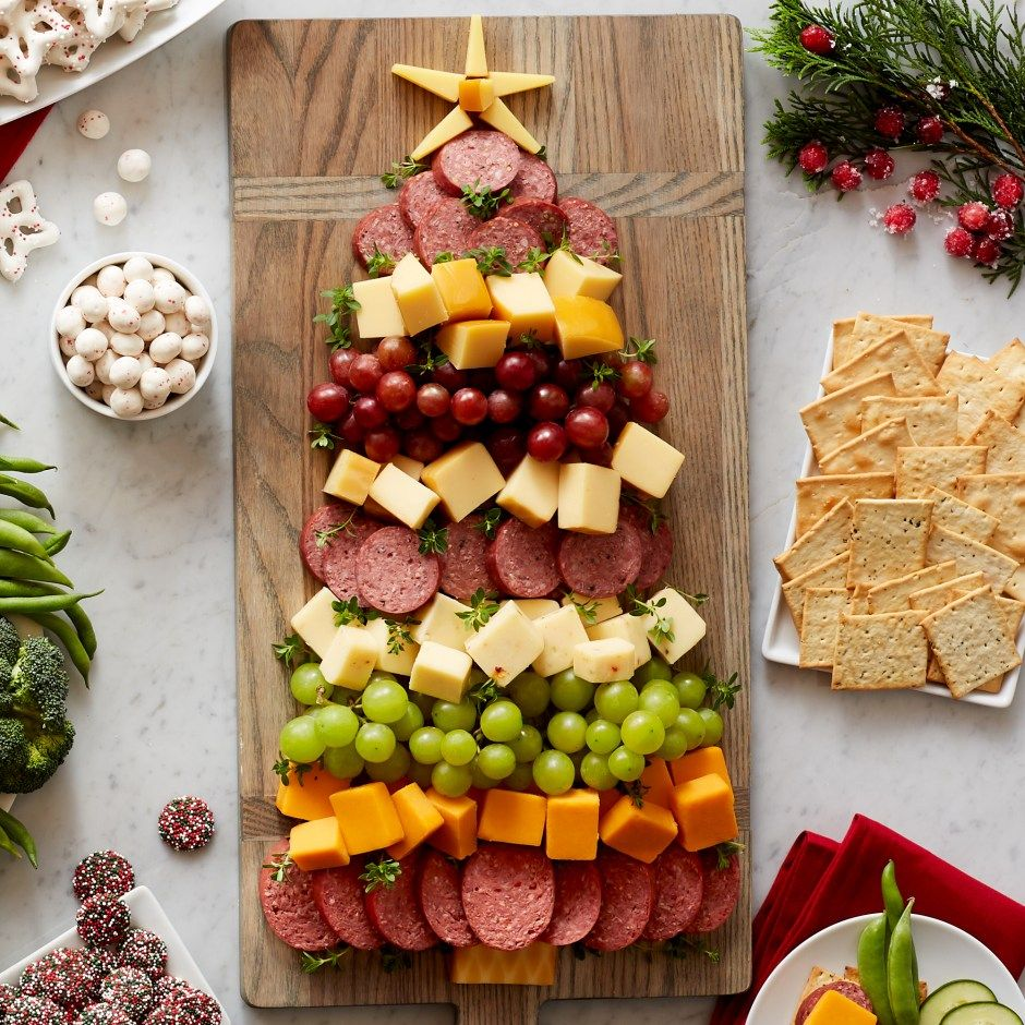 charcuterie tree for an easy holiday appetizer Christmas