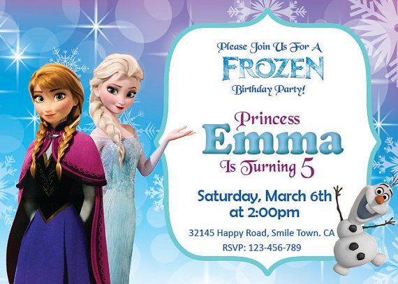 graphic relating to Printable Frozen Birthday Card known as Disney Frozen Birthday Invitation Printables Frozen Bash