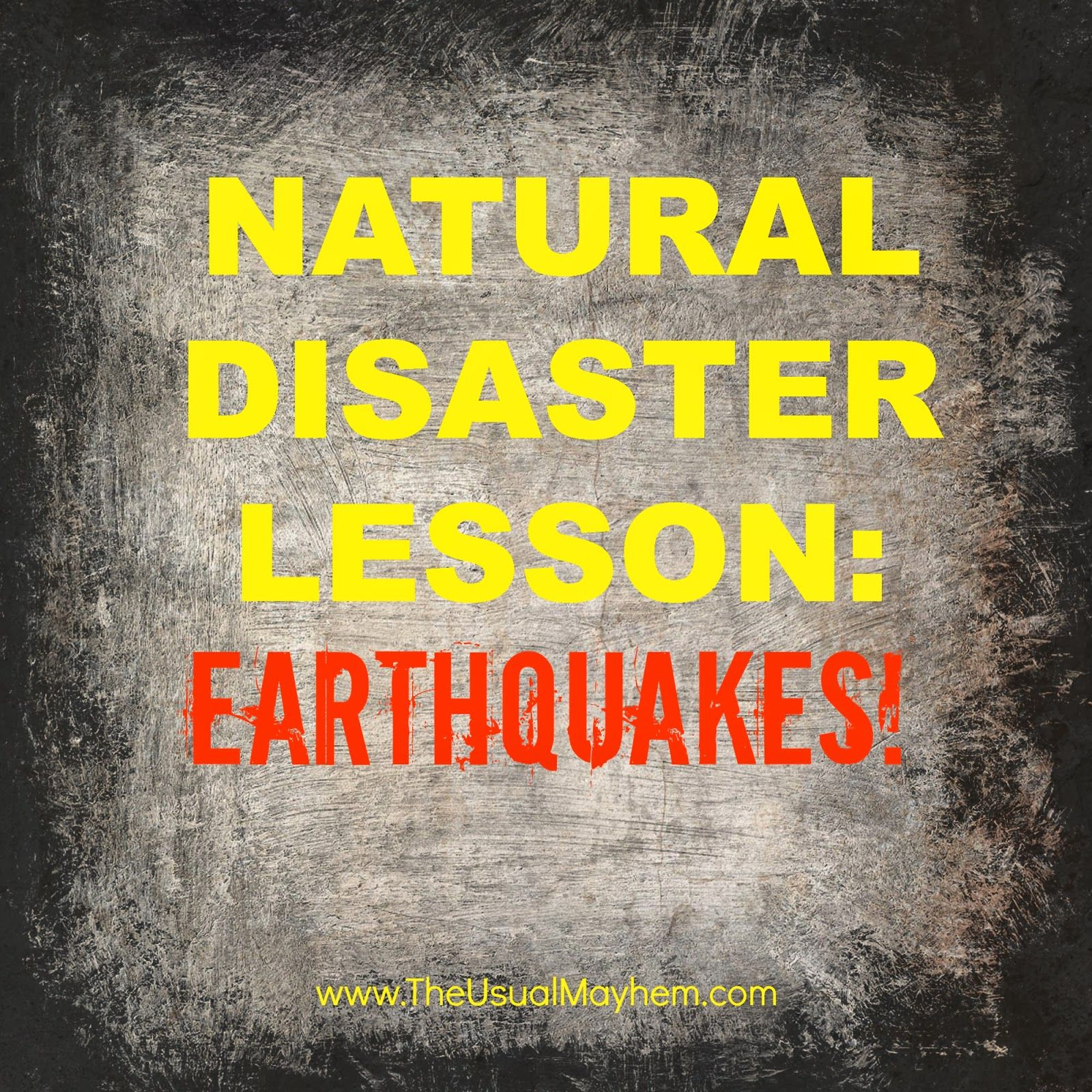 Creative writing on natural disasters