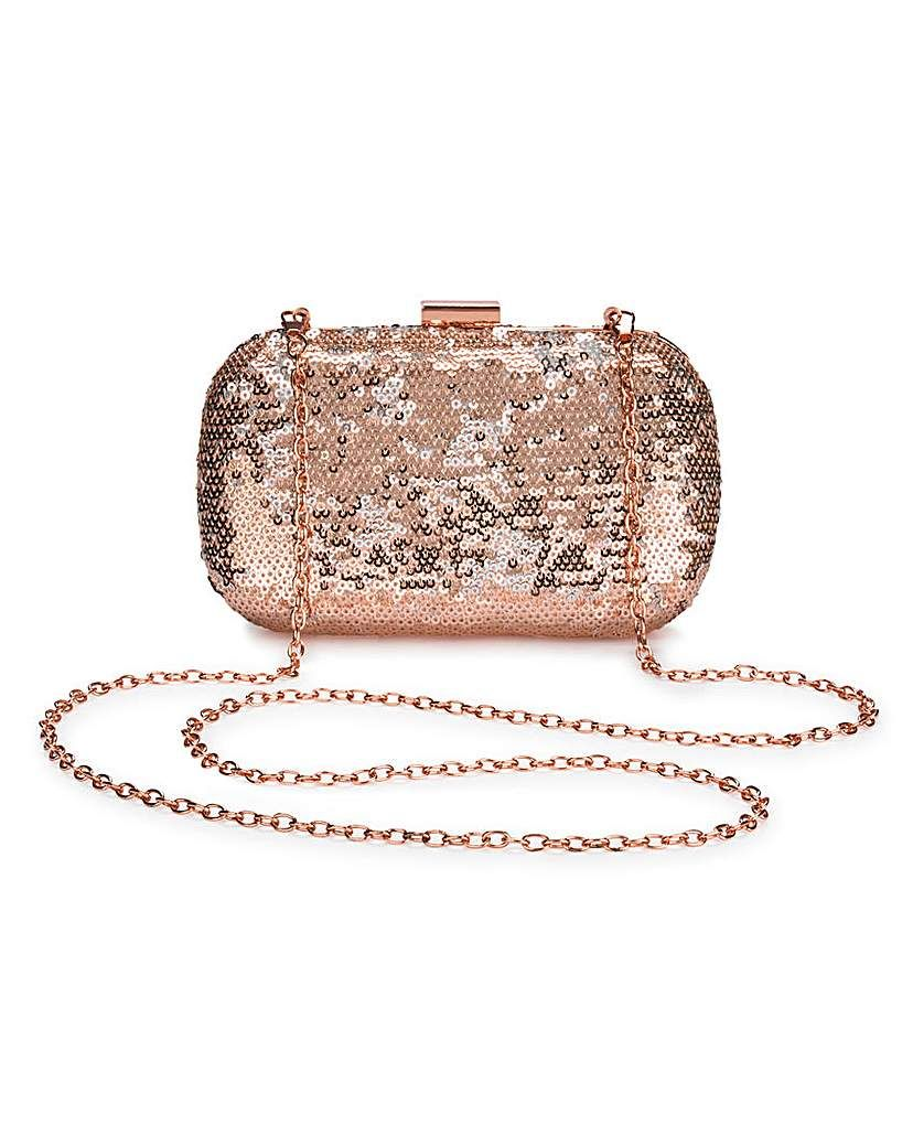 1028e5d4e887 Alice Rose Gold Sequin Clutch Bag in 2019 | Products | Rose gold ...