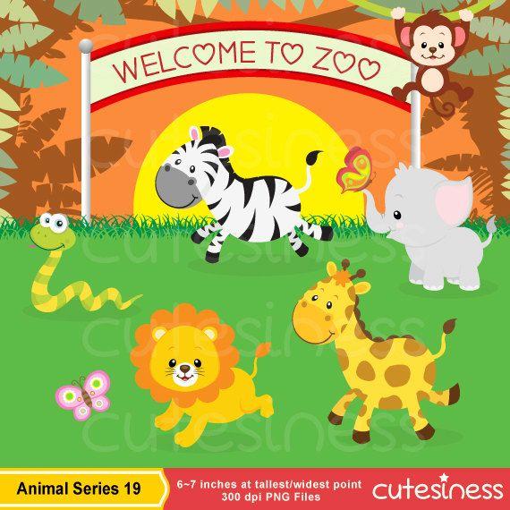 In The Wild Clipart Jungle Clipart Safari Clipart Jungle Etsy Animal Clipart Baby Jungle Animals Baby Animals