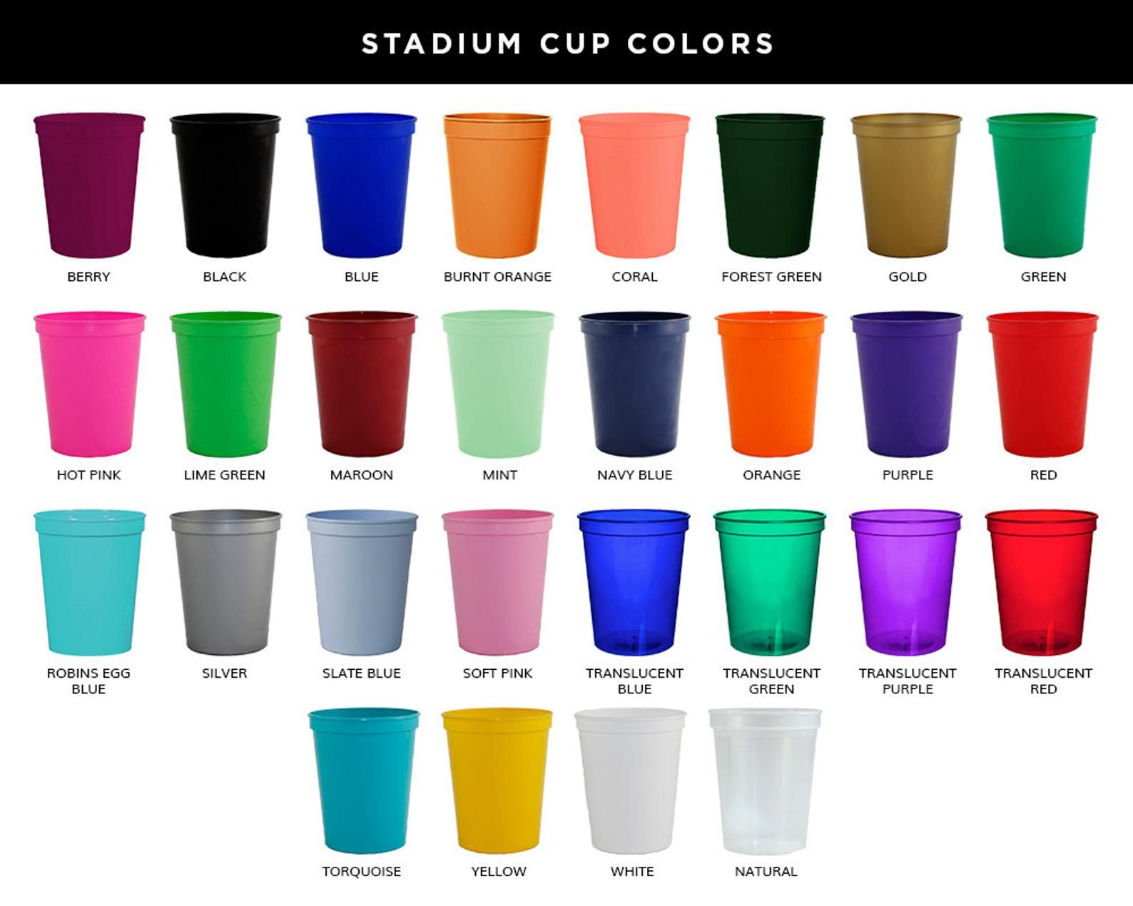 Personalized Plastic Cups Party Cups Wedding Cups Custom