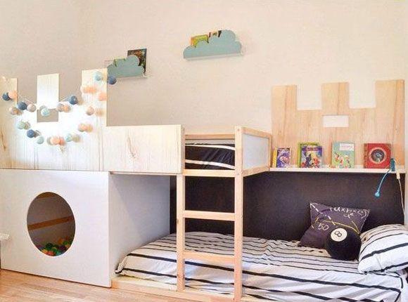 ikea-bed-ikeabed-hoogslaper-omkeerbaarbed-kleuter-juniorbed, Deco ideeën