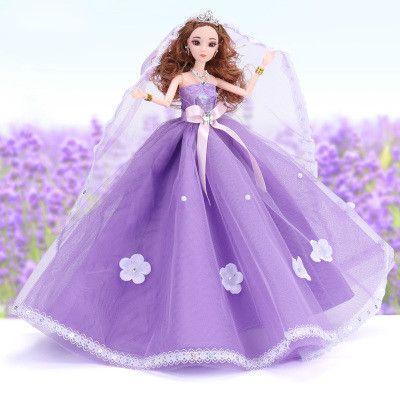 Cute Barbie Doll Clothing item Purple /& Silver Princess Gown Dress
