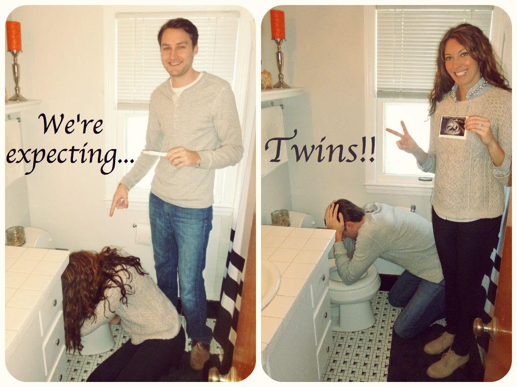Twin pregnancy announcement Twinsies Pinterest – Baby Announcements Pinterest