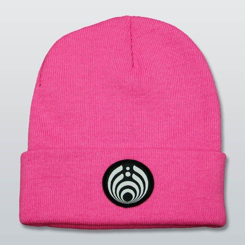 Bassnectar Pink Emblem Beanie  6dcd86e16d3