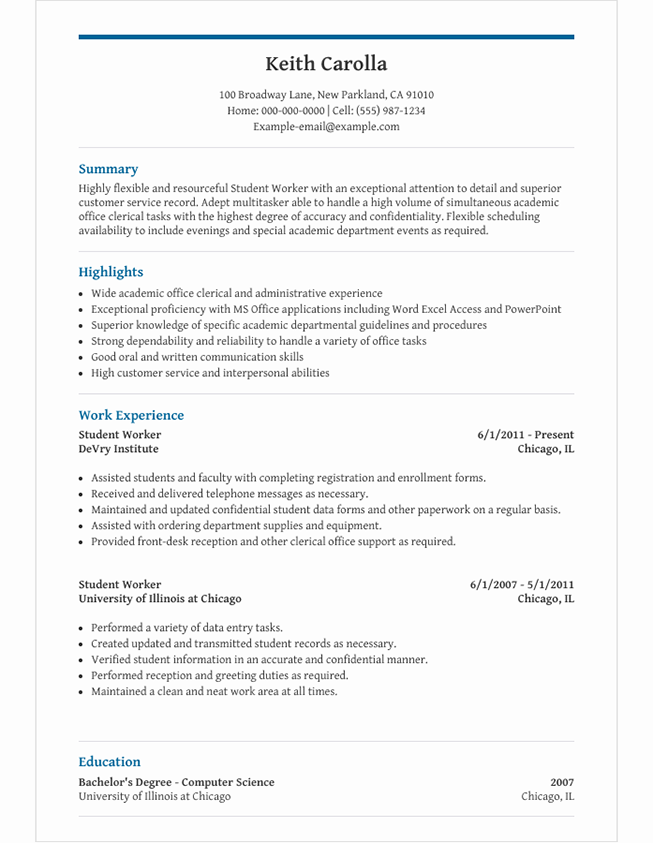 Image result for high school student resume