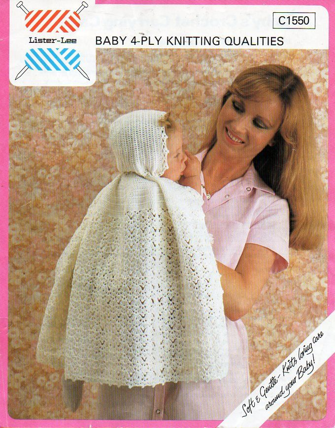 baby crochet cape pattern crochet pattern pdf 4ply Christening ...