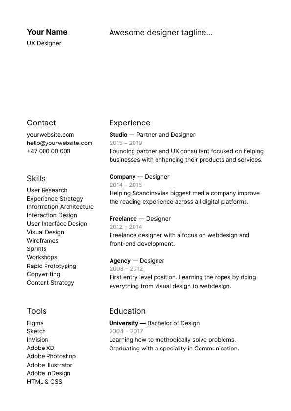 21 Inspiring Ux Designer Resumes And Why They Work Resume Design Resume Design Template Resume