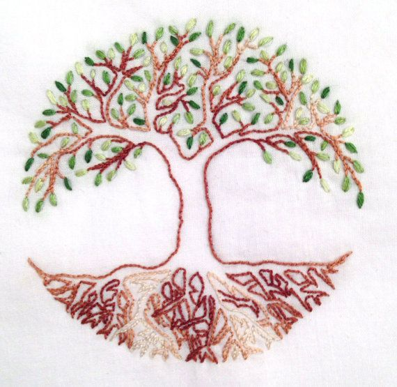 Tree of life hand embroidery pattern pdf by houseofwhimsy