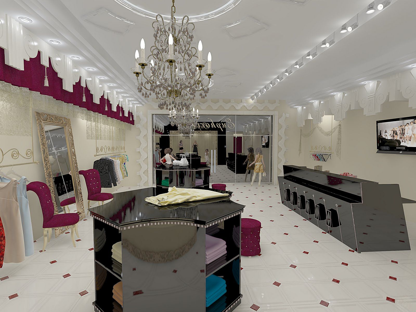 Dress shop interior design wdbt pinterest shop for Shop interior design