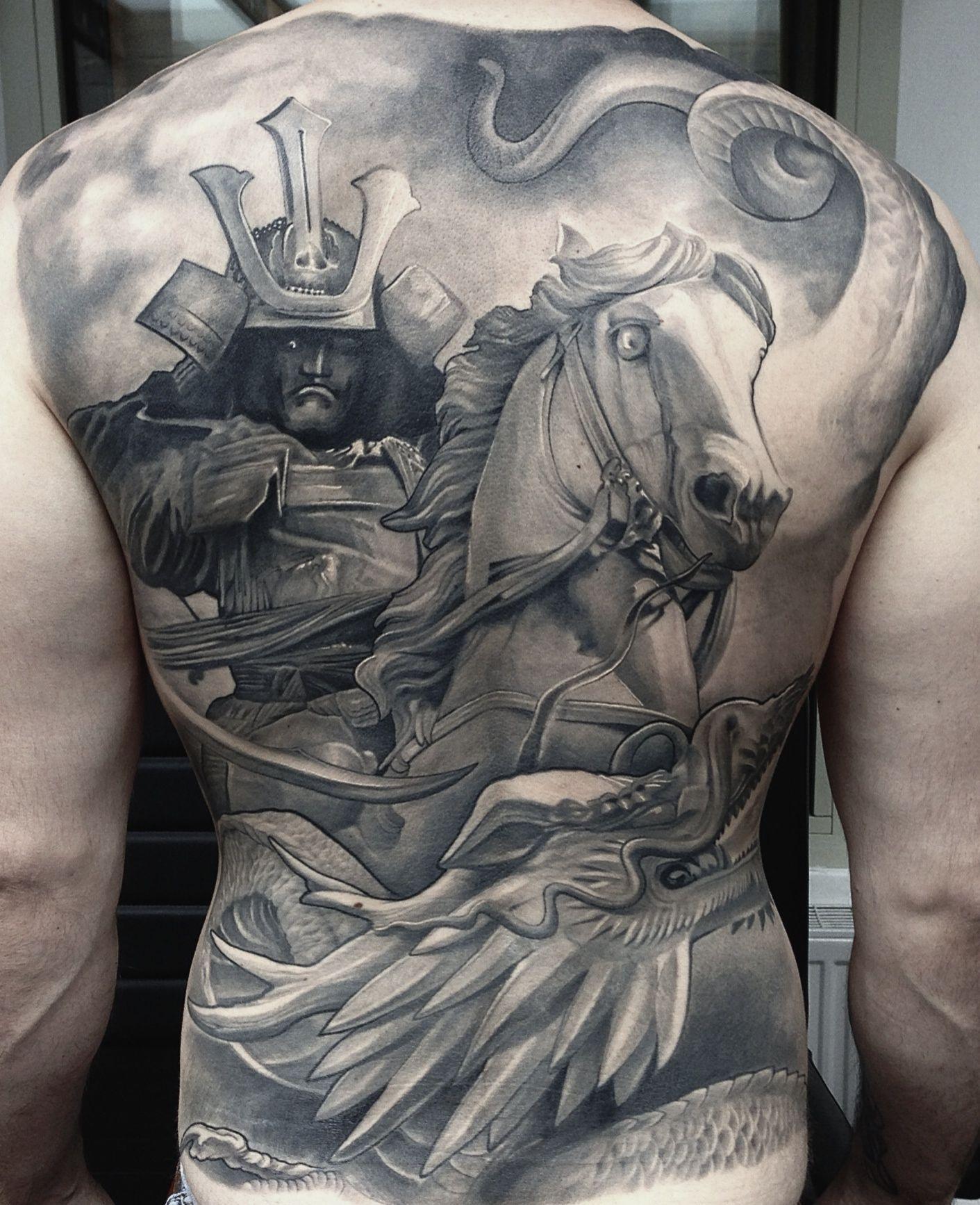 32369d19f0c23 samurai back tattoo designs | Tatoo body Design | Back tattoo, Back ...