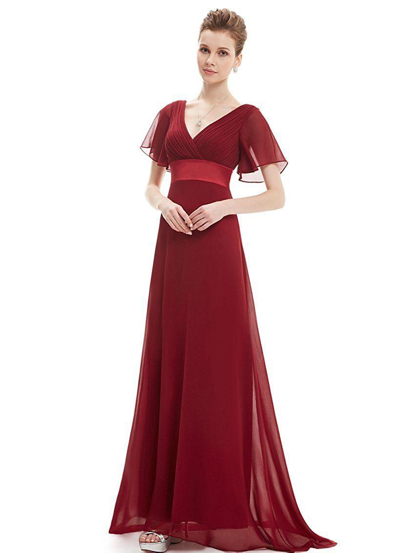 Ever Pretty Women\'s Short Sleeve V-Neck Long Evening Dress 09890 ...