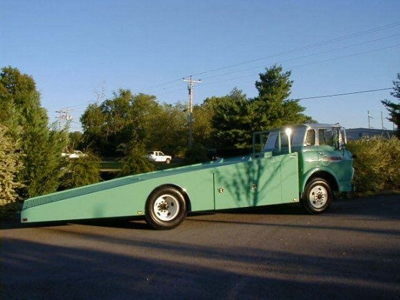 Very Cool 66 Gmc Tilt Cab Car Hauler Fs Not Mine The 1947