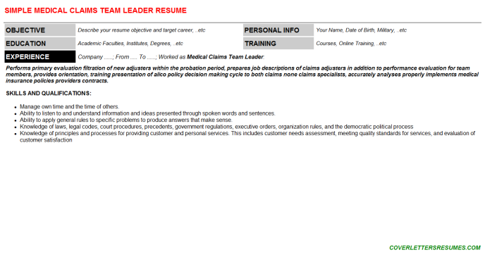 Medical Claims Processor Cover Letter Amp Resume Insurance Samples