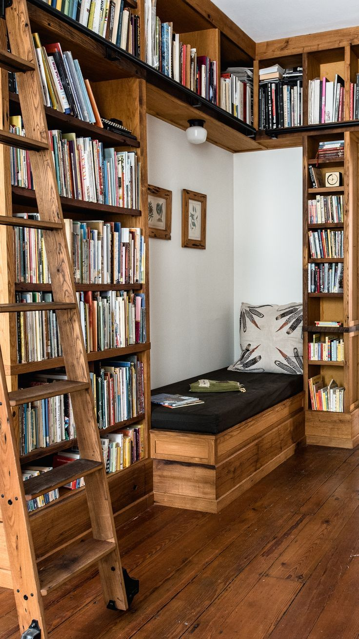 Bookshelves and At Home Library Inspiration by Peg
