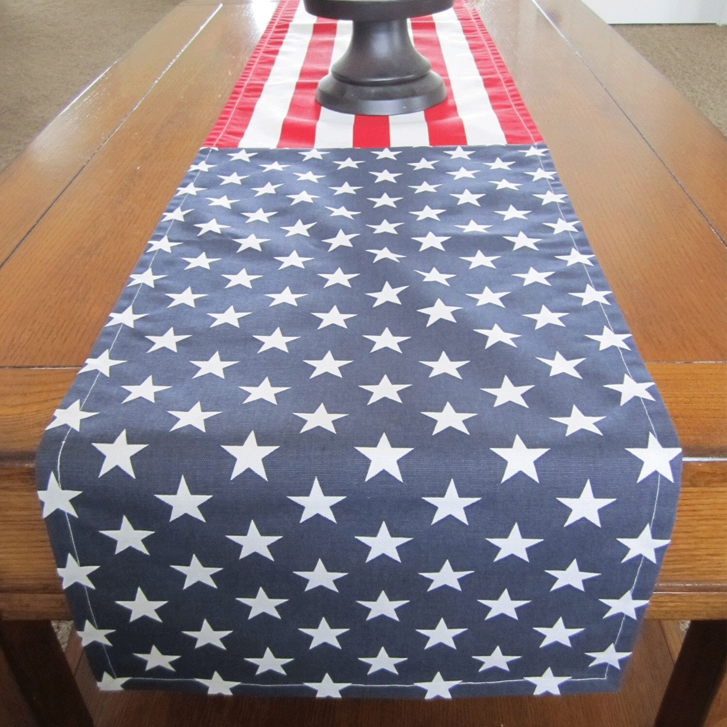 Stars And Stripes Table Runner, Fourth Of July Table Runner, Red White And  Blue
