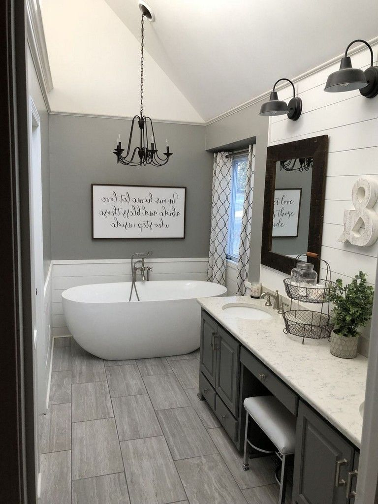 35 Shocking Modern Master Bathroom Decorating Ideas Farmhouse