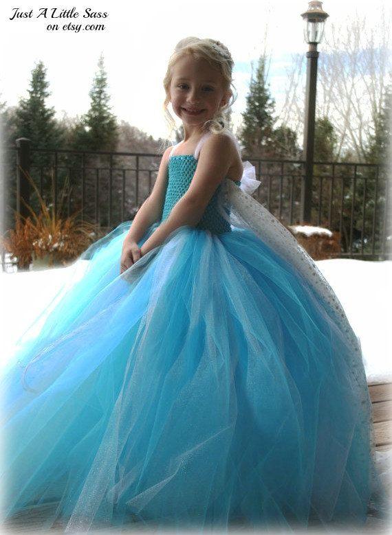 Disney Frozen Snow Queen Elsa Tutu Costume Dress and Optional Removable Train - Toddler  sc 1 st  Pinterest & Disney Frozen Snow Queen Elsa Tutu Costume Dress and Optional ...