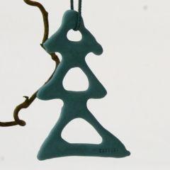 Lars Rank  - 5 håndlavede grantræer julepynt (mørkegrøn)
