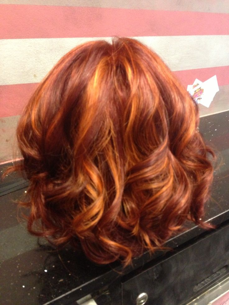 Pin By Marti Graff On Hairstyles Red Hair With Highlights Natural Red Hair Hair Highlights